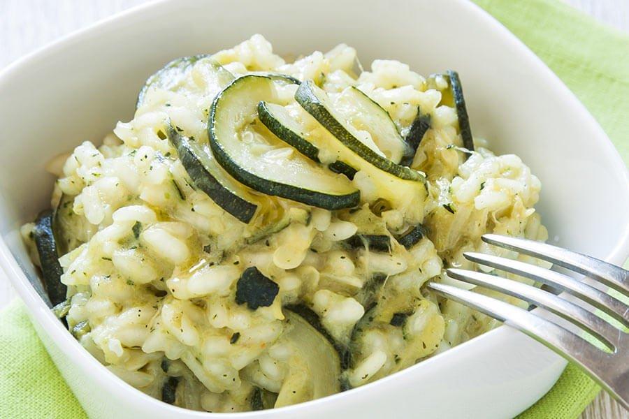 Risotto Mantecato alla Crema di Zucchini e Pistil di Zafferano Recipe