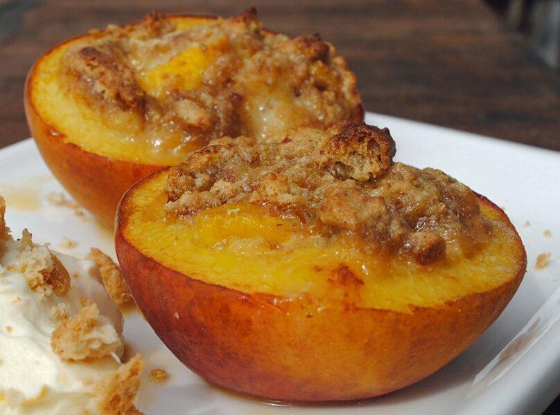 Italian Market Amaretti-stuffed Baked Peaches Recipe