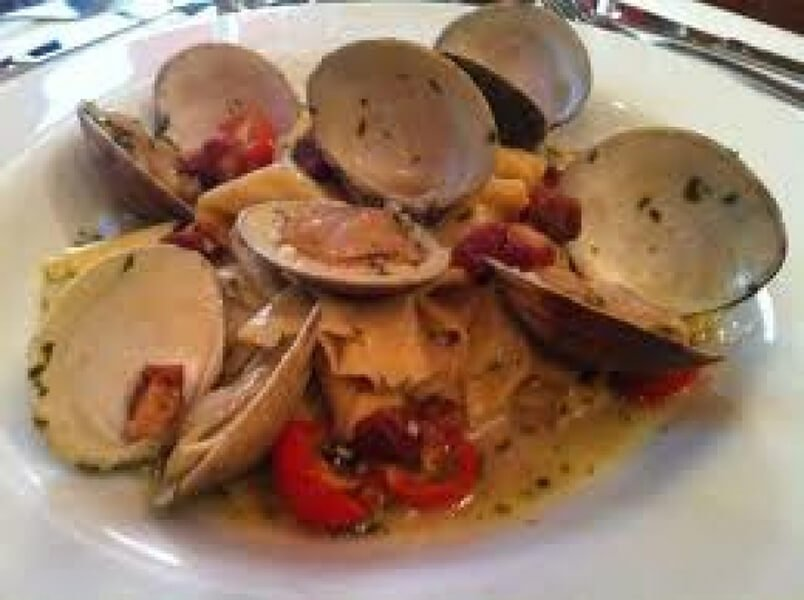 Italian Market Pappardelle with Clams, Tomato, and Parsley Recipe