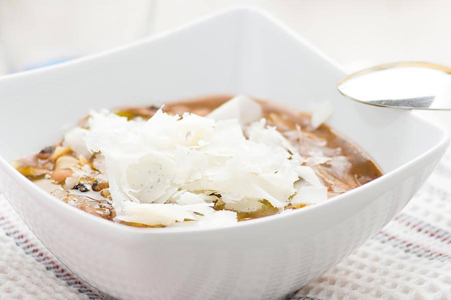 Pasta e Fagioli con Asiago Recipe