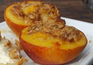 Italian Market Amaretti-stuffed Baked Peaches Recipe