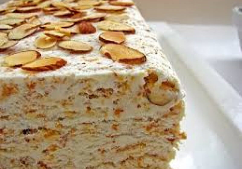 Italian Market Semifreddo with Almonds and Caramelized Apples Recipe