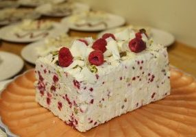 Italian Market Semifreddo with White Chocolate, Raspberry and Pistachio Recipe